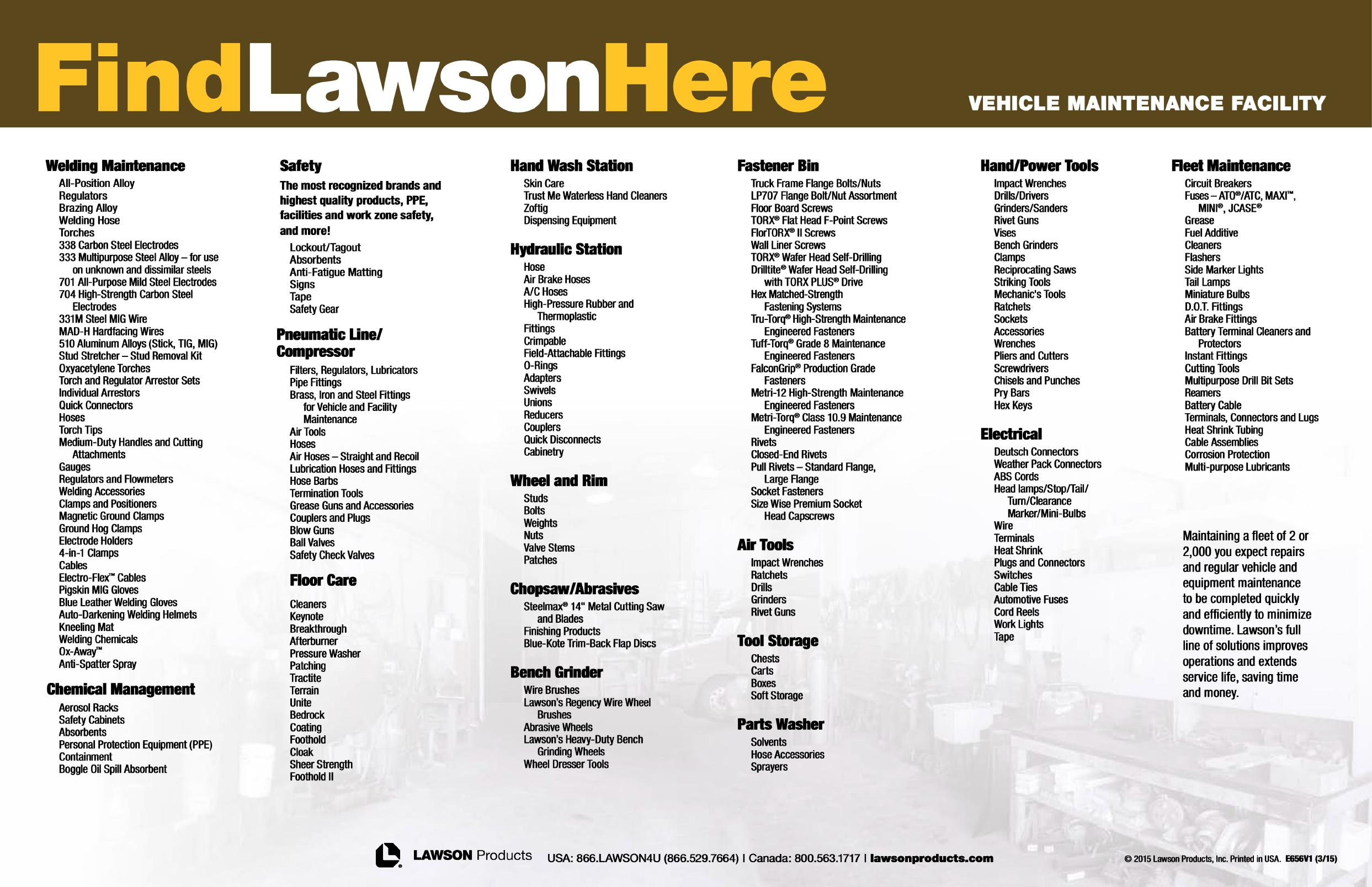 Vehicle Maintenance Facility - Find Lawson Here Page 20
